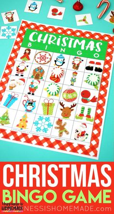 This festive Christmas Bingo Game is a ton of fun for kids and adults! 35 different bingo calling cards, so it's great for both classic bingo and blackout! Christmas Bingo Printable, Christmas Bingo Cards, Christmas Party Games For Kids, Kids Party Games, Christmas Activities, Christmas Parties, Xmas Games, Time Activities, Unique Christmas Gifts