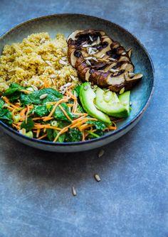Portobello Bowl with Tahini-Miso Dressing - The All-Day Kitchen