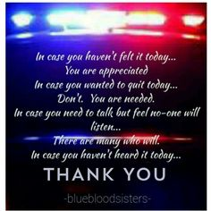 Blue book sister police thank you