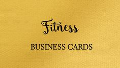 health and fitness business cards