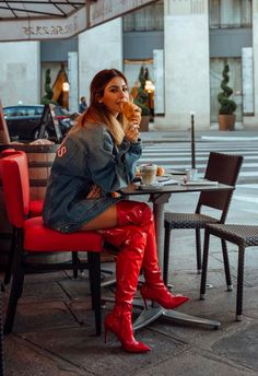 Red patent thigh high boots Source by Red Knee High Boots, High Heel Boots, Shoe Boots, Shoes, Red Leather Boots, Red Boots, Look Fashion, Fashion Boots, Crotch Boots