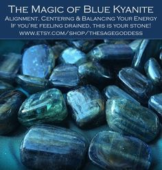 Blue kyanite brings cellular alignment and draws you inward toward your core, strengthening your will and vision so that you move in concert with the highest good for you and your kind. It's the stone of finding your sacred center.