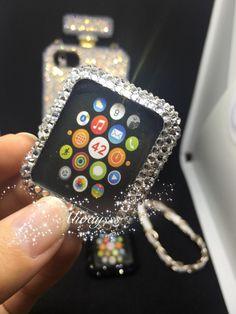 A personal favourite from my Etsy shop https://www.etsy.com/hk-en/listing/455733722/apple-watch-case-bling-handmade-clear