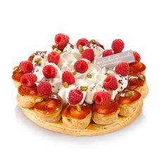 Saint-honoré aux fruits rouges, passionnément framboise, fraise ou cerise, selon la saison. Nicolas Bernardé