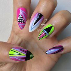 Instagram media by the_prettynails - Sorry it's been a little while! Needed some nailspiration!!  #Nails #NailArt #Nailgasm #NailPorn #NailDesign #NailLacquer #LongNails #FakeNails #AcrylicNails #Neon #Pink #Fade #TribalNails