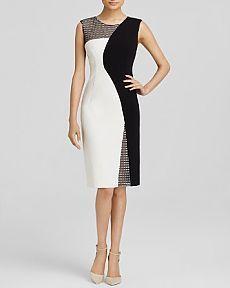MILLY Mesh Helix Dress | Bloomingdale's