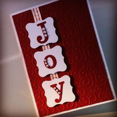 Christmas card using the bigshot for embossing and lettering by lilyden creations