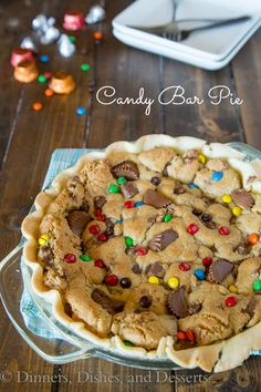 Candy Bar Pie - a fun use of that leftover Halloween candy