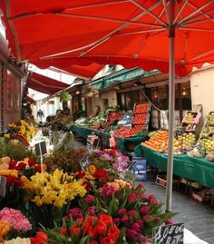"""""""I was walking through the local markets in Paris on a sunny morning, and the smells of the fresh fruits, vegetables, cheeses, and meats filled the air."""" (From: 40 Stunning Photos of France) #travel #budgettravel #france"""