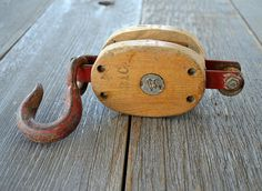 Small Vintage Pulley/ Barn Industrial by NostalgicArtifacts