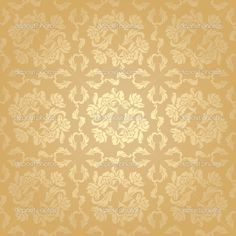 flowers, floral – pattern. Gold — Stock Vector © ecelop #6725552