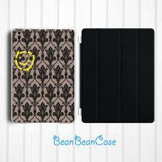 Sherlock 221b baker smiley case for iPad mini case, new iPad mini retina 2 case, iPad Air case, back hard cover case with smart cover (E64)