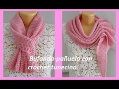 How To Crochet A Scarf Shawl. Tunisian Crochet Scarf How To Crochet A Scarf Shawl. Tunisian Crochet Scarf Learn To Crochet with free videos from Angelina Ozimok. Our channel: Crochet and knitting from Angelina Ozimok . Crochet Fabric, Crochet Scarves, Crochet Shawl, Easy Crochet, Crochet Clothes, Tunisian Crochet Patterns, Knit Headband Pattern, Knitting, Crocheting