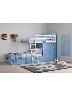 Letto a castello con armadio e cassettiera - Le civette sul Comò - design per bambini e genitori
