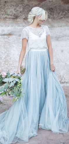A-line Lace Scoop Sweep Train Short sleeve Tulle Evening Dress, long prom dresses, Tulle Skirt Wedding Dress, Blue Wedding Dresses, Wedding Dress Sleeves, Cheap Wedding Dress, Prom Dresses, Wedding Gowns, Plus Size Wedding Dresses With Sleeves, Lace Dress With Sleeves, Short Sleeves