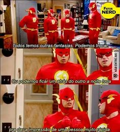 Don't speak Spanish but I know this is something about raj saying instead of changing costumes they could line up and act like one person going really fast ( a pessoa acha q tá escrito em espanhol ) aaaahhh povo estranho Big Bang Theory, The Big Band Theory, Series Movies, Movies And Tv Shows, Tv Series, Tbbt, Supergirl And Flash, Himym, Friends Tv Show