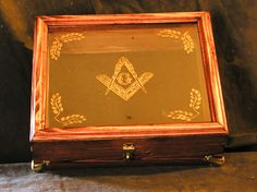 hand made masonic cigar case