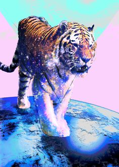 Psychedelic tiger. Repinned from Vital Outburst clothing vitaloutburst.com