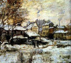 Claude Monet, Snow Effect With Setting Sun (1875).jpg on ArtStack #claude-monet #art