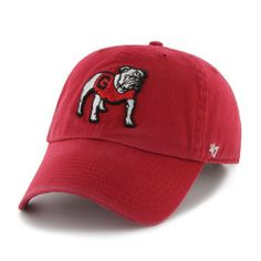 NCAA Georgia Bulldogs Clean Up Adjustable Cap (Red f10fcfe986e