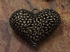 Heart Charm, Heart Pendant, Love Charm, Charms, Alloy Charms, Antique Bronze, PB1804 by MillpondJewelryCo on Etsy