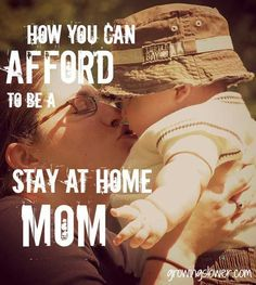 """How to Afford to Be a Stay at Home Mom - Whether you have a new baby on the way or you've been wondering """"can I afford to stay home with my kids?"""" for years, this article takes a fresh look at how to afford being a stay at home mom. It breaks down the income of the average mom and looks at where it's really going, where you can save, and how much you would need to make from home to afford to stay home. Being a stay at home mom might be more financially possible than you think!"""