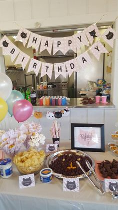 You will LOVE the details of this Cat birthday party. There's a lot of personalized cat birthday party supplies & our famous cat litter we served guests! Birthday Cake For Cat, Happy Birthday Name, Pink Birthday, Happy Birthday Banners, Birthday Parties, Birthday Signs, Animal Party, Party Animals, Cat Party