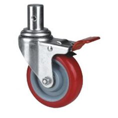 com-four/® 4 small wheels for screwing//furniture swivel castors with and without brake 04 pieces - 40mm 80kg transport rollers with swivel bearing