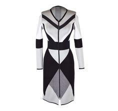 Octavio Pizarro   Cubist Jacquard Dress   Geometrics