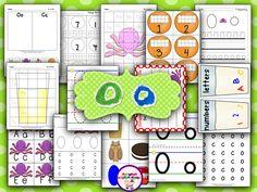 Letter Oo Printables (from Sharing Kindergarten) Kindergarten, Preschool Literacy, Preschool Letters, Learning Letters, Preschool Ideas, Letter O Activities, Phonics Activities, Learning Activities, Teaching Ideas