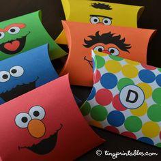 Sesame Street Birthday Party Printables - Favor Boxes by TinyPrintables, via Flickr