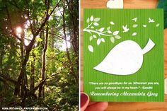 Inspired by the calm essence of the great outdoors, we're introducing new eco-friendly #memorialfavors and giving you 5 ways that nature can help with #grief.