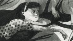 kalina muhova | http://www.picamemag.com/kalina-muhova/ #illustration #black #picame #bulgarian #girl #dream #pencil