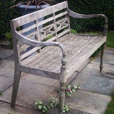 FINN – Hagebenk, utebenk, hagemøbler i jern.
