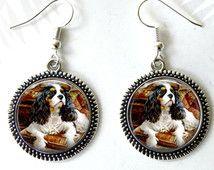 Dog Earrings, Cavalier King Charles Spaniel, King Charles Spaniel Necklace, Dog…