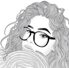 S photos, drawings and gif outline face Tumblr Girl Drawing, Tumblr Sketches, Tumblr Drawings, Drawing Sketches, Girl Drawings, Tumblr Bff, Art Tumblr, Outline Drawings, Easy Drawings