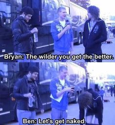 Bryan Stars Interviewing Asking Alexandria. Emo Bands, Music Bands, Music Is Life, My Music, Ben Bruce, Bryan Stars, My Life My Rules, Asking Alexandria, Screamo
