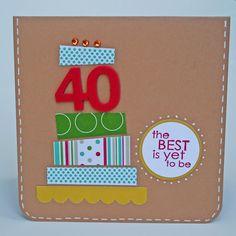 carrot top x birthday card Diy 40th Birthday Card, 50th Birthday Cards For Women, Happy 40th Birthday, Birthday Card Design, Birthday Scrapbook, Handmade Birthday Cards, Birthday Card Decoration, Birthday Cake, Tarjetas Diy