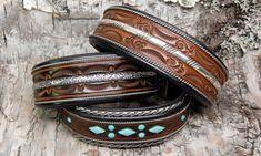 Leather cuffs by Jerry Tucker Jewelry