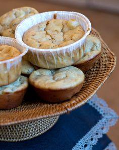 Magdalenas saladas de pera, nueces y queso Roquefort «