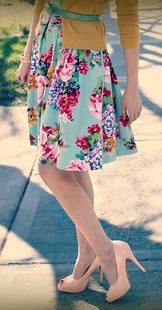 Mustard and mint floral