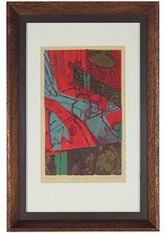 "31933- M.G.C Adams, 1968, Mixed Method Fine Art Print, 11.5""x17"" Framed  Price: $435.00"