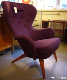 """Carl-Gustav Hiort af Ornäs, """"Lehti""""-nojatuoli Egg Chair, Lounge, Furniture, Home Decor, Airport Lounge, Drawing Rooms, Decoration Home, Room Decor, Lounges"""