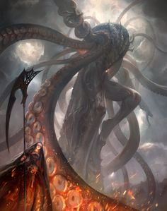 Beautiful Science Fiction, Fantasy and Horror art from all over the world. Monster Art, Monster Concept Art, Dark Fantasy Art, Fantasy World, Fantasy Creatures, Mythical Creatures, O Kraken, Lovecraftian Horror, Eldritch Horror