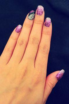 Purple Prom Glitter Nails!