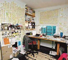 Le bureau de Will Self (www.cafebook.fr, Will-Self.com)