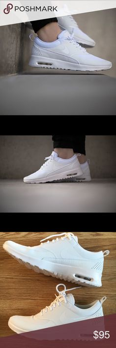 foot locker nike air max thea premium in pure light white with swarovski crystals details