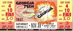 http://www.shop.47straightposters.com/1957-Georgia-vs-Georgia-Tech-Football-Ticket-Art-57GTGA.htm Vintage SEC football ticket.