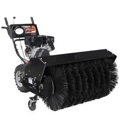 Ariens 926057 Power Brush 36 265cc 36 in. All Season Power Brush with Electric Start > Subaru engine delivers the power and performance needed to tackle thick snow 18 in. large bristle brushes deliver outstanding performance and clearing power 28 in. wide clearing path ideal for clearing sidewalks, driveways and walkways