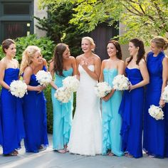 Love the royal blue dresses.